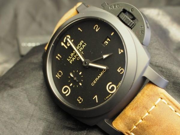 ヴィンテージ感漂う パネライ 「ルミノール 1950 3デイズ GMT オートマチック チェラミカ PAM00441」