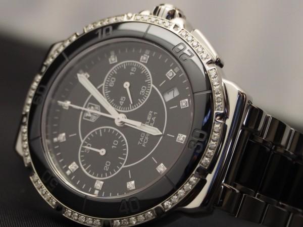 女性で大き目の時計を探している方はこちら!!タグ・ホイヤー「フォーミュラ1 ダイヤモンド クロノグラフ」