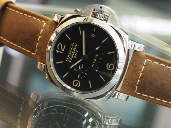 再入荷情報!パネライ「ルミノール 1950 10デイズ GMT オートマティック アッチャイオ」(PAM00533)