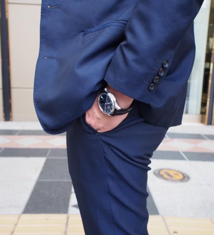 IWCのブルー文字盤は大人色!ブランドによって見え方は違います!「ポルトギーゼ・オートマティック」IW500710