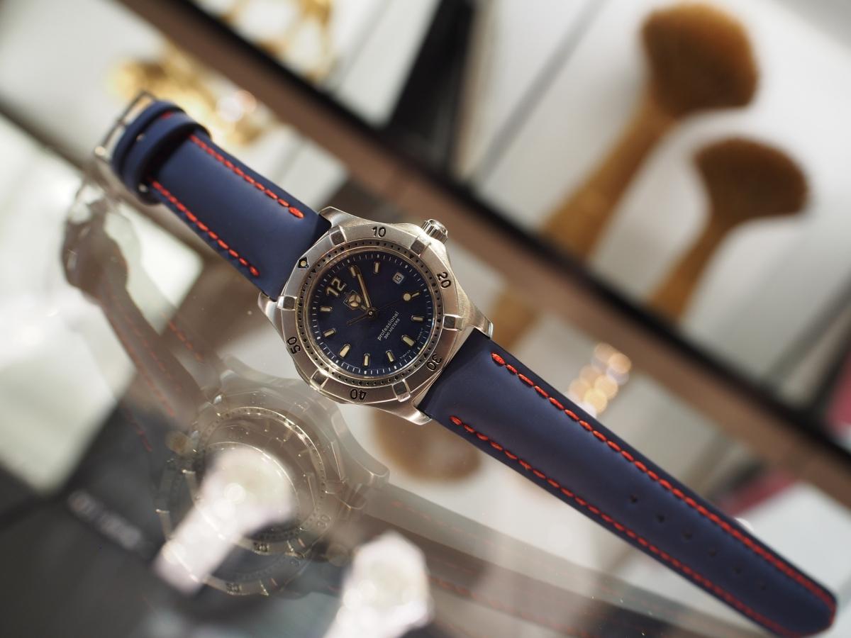 普段使わなくなってしまった時計をオーダーメイドストラップでリメイク!@TAG Heuer