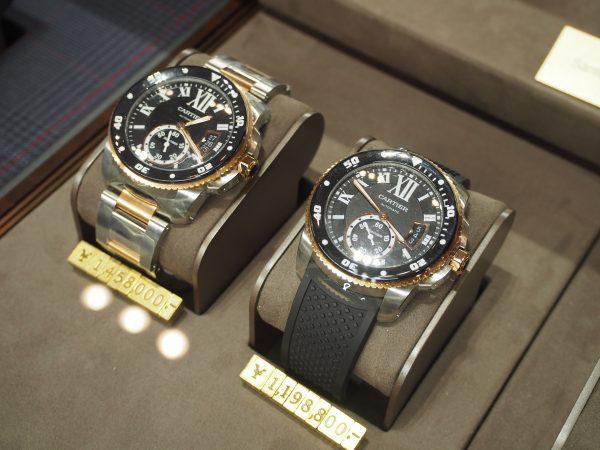 【Cartier】上品なダイバーズウォッチ「カリブル ドゥ カルティエ ダイバー ウォッチ」 ピンクゴールド×ステンレス