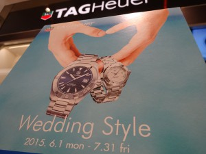 TAGHeuer×Wedding Style 開催中です!