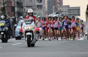 本日、皇后盃第33回全国女子駅伝開催。