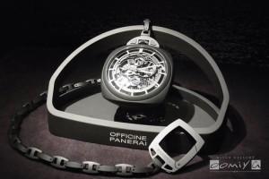 パネライ 2013年新作 ポケットウォッチ トゥールビヨン GMT チェラミカ (PAM00446)
