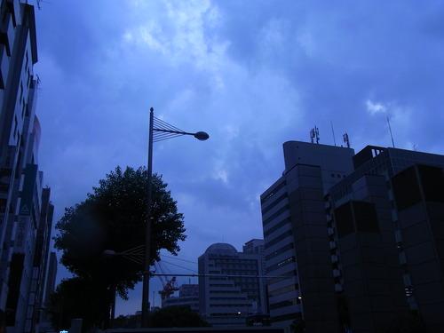 雨が降ってきました…