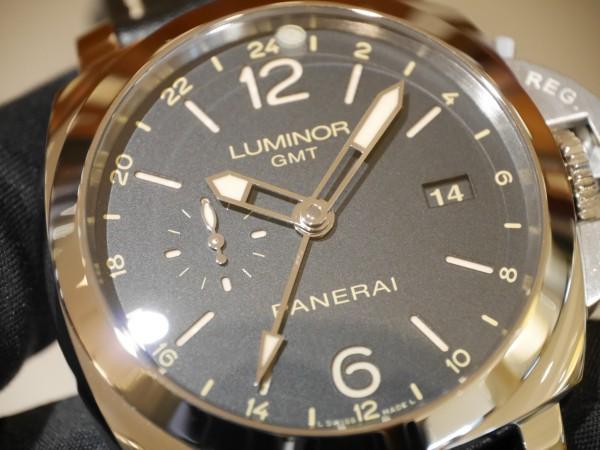 文字盤に24時間表示が備わったルミノール 1950 3デイズ GMT 24H オートマティック アッチャイオPAM00531