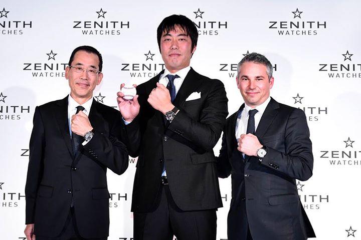 日本人初のゼニスのアンバサダーに上原浩治投手が就任