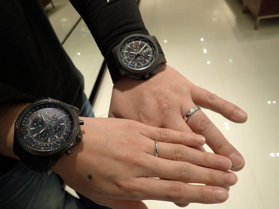 「女性=華奢な時計」という概念にとらわれない、ペアでブライトリングを愛用されるお客様のご紹介です