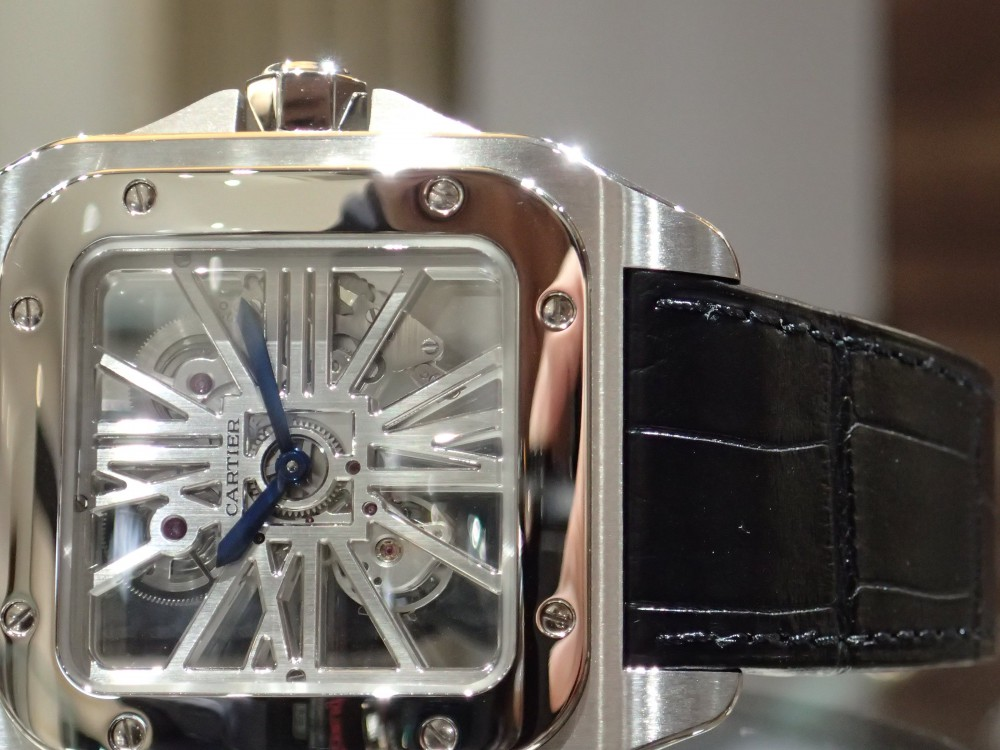 〔希少モデル〕時計愛好家のためのカルティエ サントス100 スケルトン