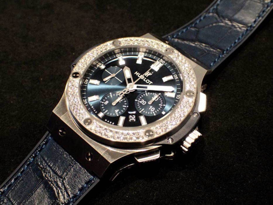 ウブロ ビッグバン スチールダイヤモンドにブルーの新色追加でスタッフの心も揺れる