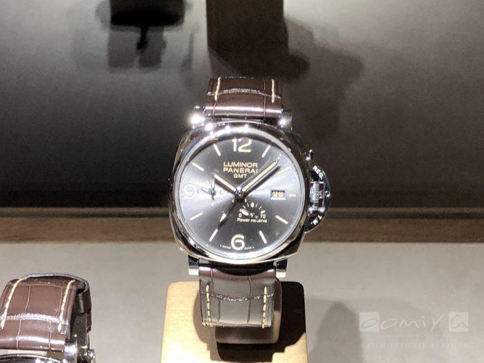 パネライ 2018年新作 ルミノール ドゥエ スリーデイズ GMT パワーリザーブ オートマティック アッチャイオ – 45mm PAM00944