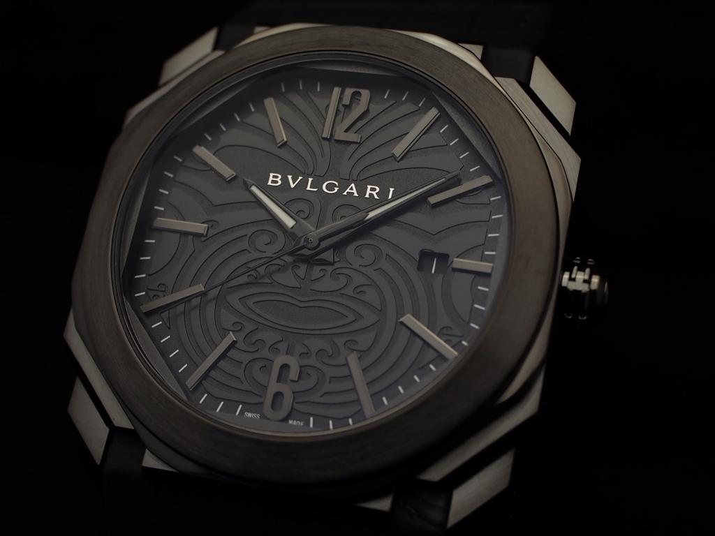 ブルガリとニュージーランドラグビーのコラボモデル「オクト オールブラックス」-BVLGARI -PC120390