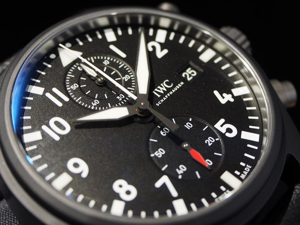 ミリタリーテイストな男らしい時計です!IWC「パイロット・ウォッチ・クロノグラフ トップガン」-IWC スタッフのつぶやき -PC160928