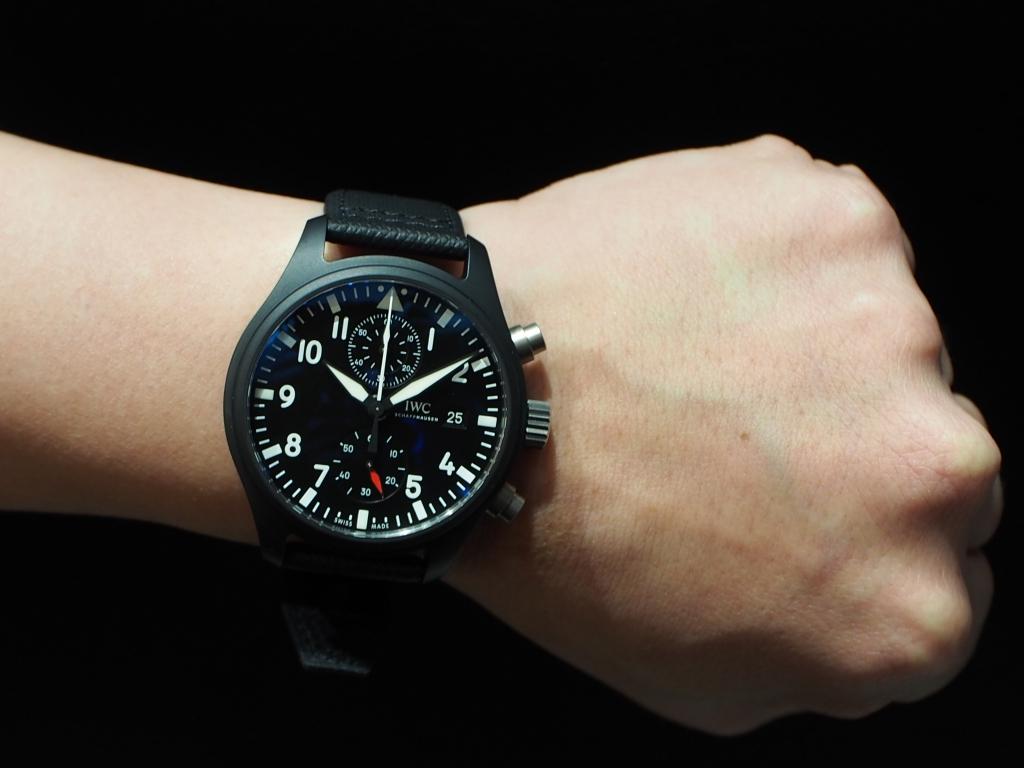 ミリタリーテイストな男らしい時計です!IWC「パイロット・ウォッチ・クロノグラフ トップガン」-IWC スタッフのつぶやき -PC160938-2