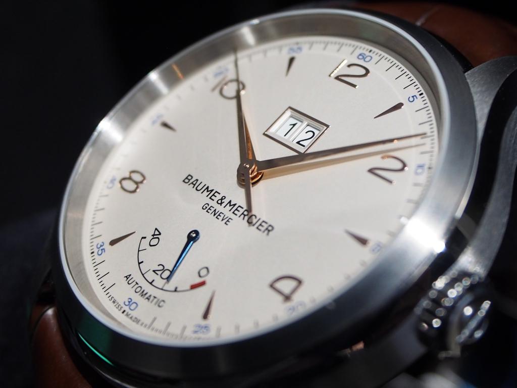お仕事に、普段使いにピッタリな時計です!BAUME&MERCIER「クリフトン ビックデイト パワーリザーブ」