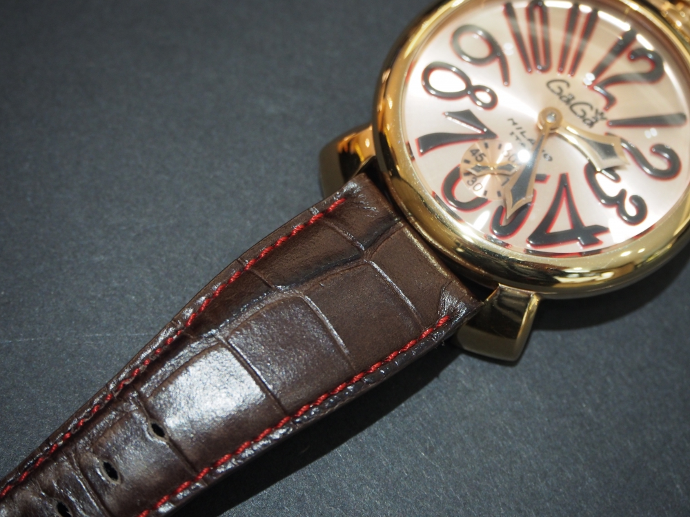 お持ちの時計でもベルトをお作り出来ます!! オーダーメイドストラップ、『ジャン・ルソー』-Jean Rousseau スタッフのつぶやき -P2120359
