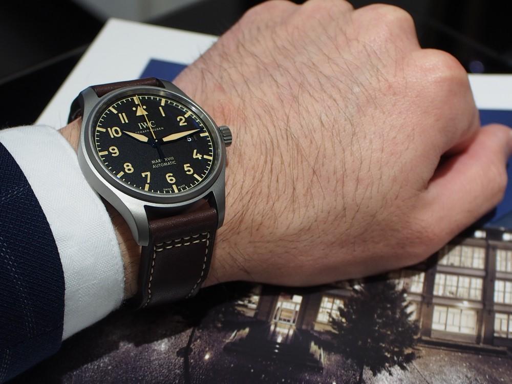 【IWCフェア開催中】時計に渋カッコよさを求めるなら、IWC「パイロット・ウォッチ・マークXVIII ヘリテージ」-スタッフのつぶやき -P4030880