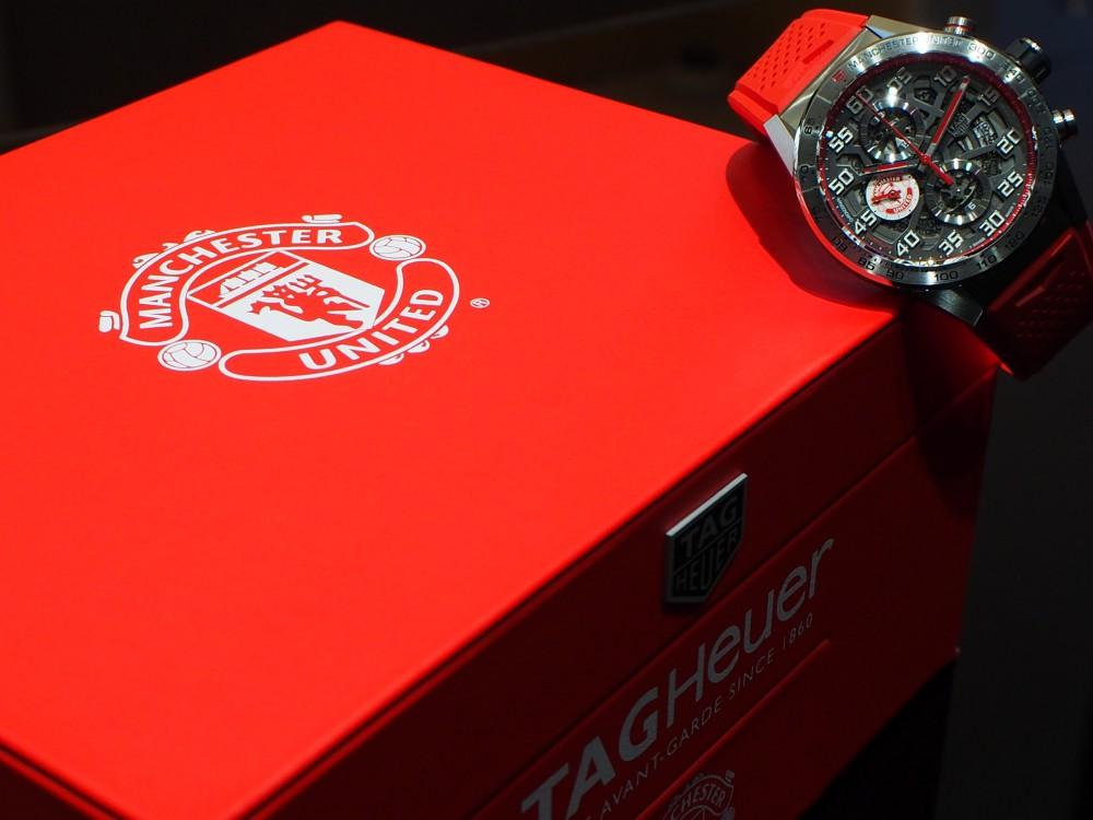 赤い悪魔の限定モデル TAG Heuer「カレラ キャリバー ホイヤー01 マンチェスター・ユナイテッド スペシャルエディション」-TAG Heuer -P8021617