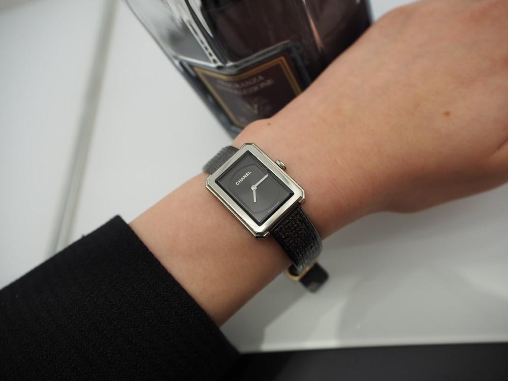 珍しいステンレスブレスレットの時計「ボーイフレンド ツイード」-CHANEL フェア・イベント情報 -P9022115