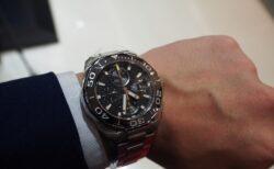 男らしい腕時計を…タグ・ホイヤー アクアレーサー キャリバー16 クロノグラフ セラミック