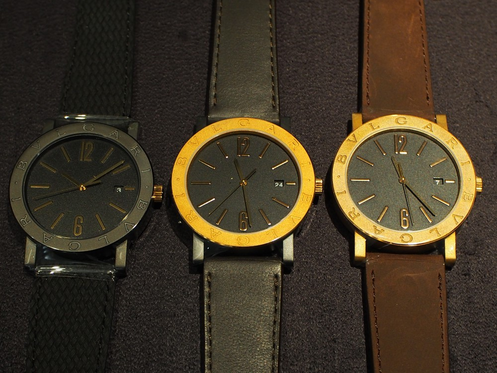 ブルガリのブロンズ時計 3種類揃ってます!「ブルガリ・ブルガリ」はブロンズ素材×自社ムーブメント!-BVLGARI -PA052684
