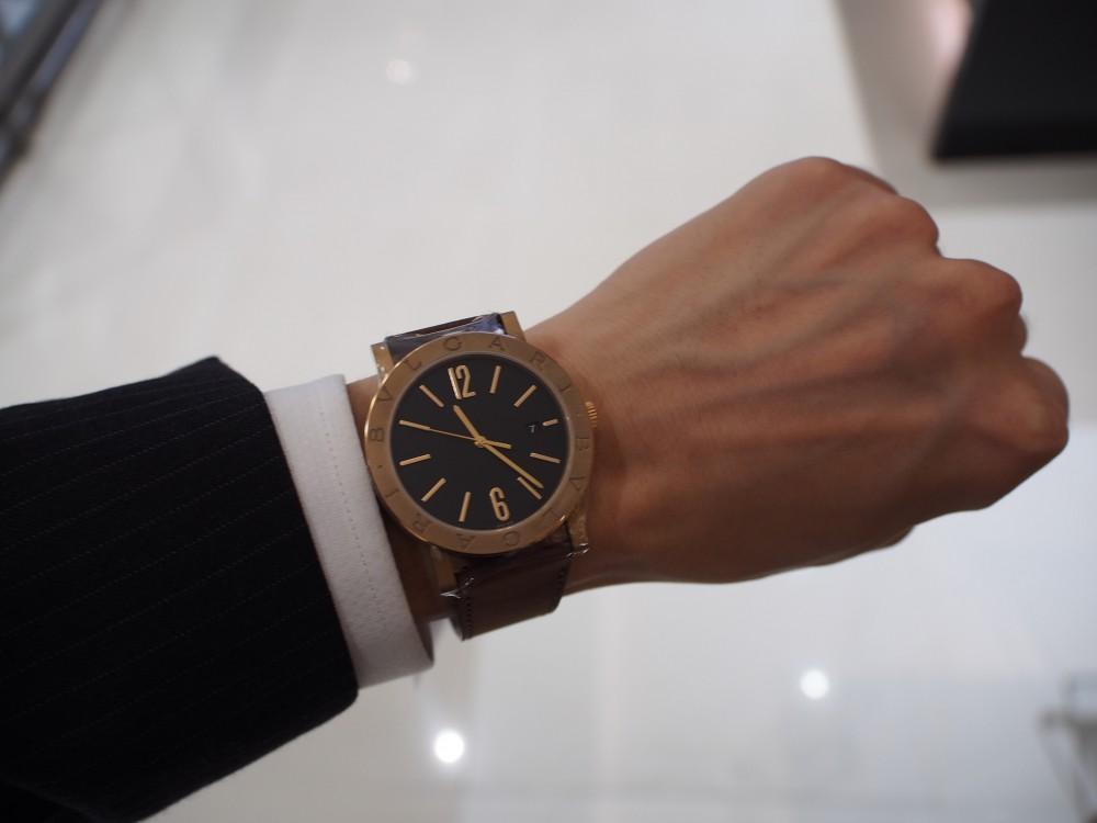 ブルガリのブロンズ時計 3種類揃ってます!「ブルガリ・ブルガリ」はブロンズ素材×自社ムーブメント!-BVLGARI -PA052692