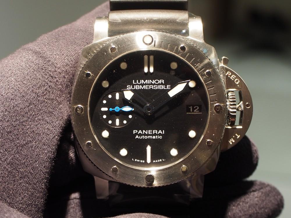 PANERAI「ルミノール サブマーシブル 1950 3デイズ オートマティック アッチャイオ」-PANERAI スタッフのつぶやき -PA130199