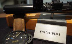 風格漂う「THE 軍用時計」ルミノール 1950 GMT チェラミカ