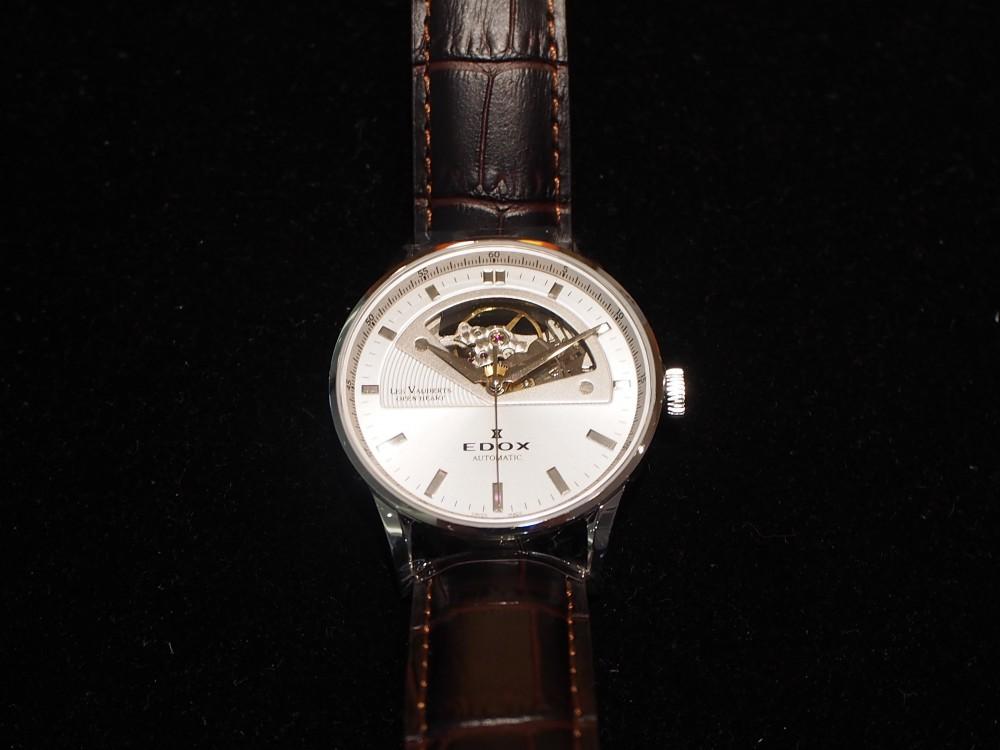 ダイバーズだけじゃない!EDOXのクラシックな時計「レ・ヴォベール オープン ハート オートマチック」-EDOX -PA230023