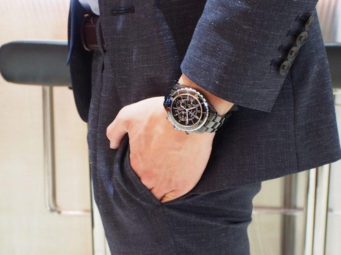 オシャレ男性必見!シャネルの時計が最強!!「J12 クロノグラフ(H0940)」-CHANEL -P1260498-700x525
