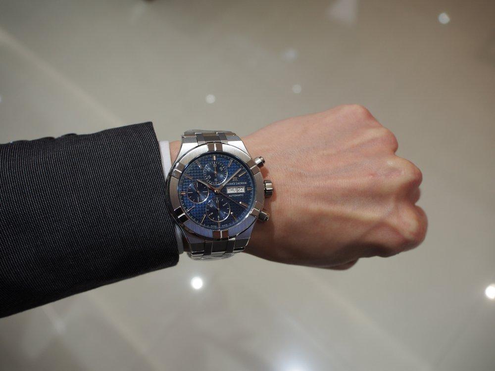 男性的でカッコイイ時計「モーリス・ラクロア アイコン オートマティック クロノグラフ」