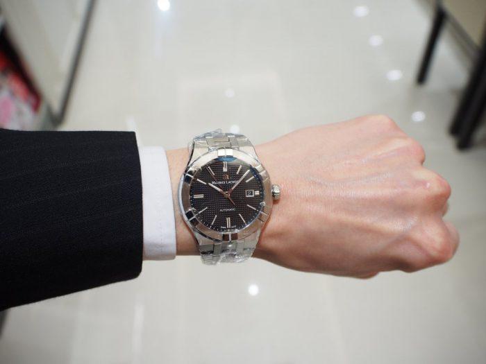 クォーツ式の時計と機械式の時計 「モーリス・ラクロア アイコン」-MAURICE LACROIX フェア・イベント情報 -P2030597-700x525