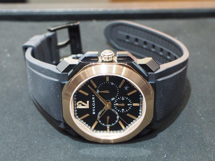 男らしさのある時計、入荷しました。「ブルガリ・オクト ヴェロチッシモ ウルトラネロ」-BVLGARI -P2090025-700x525