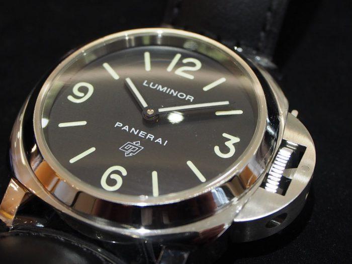 パネライのロゴが入ったシンプルな2針モデル / ルミノール ベース ロゴ アッチャイオ-PANERAI -P1270504-700x525