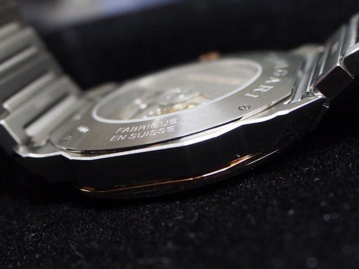 クールなグレー文字盤と18Kピンクゴールドを使用したエレガンスな時計「ブルガリ オクト ローマ」-BVLGARI -P4180025-700x525