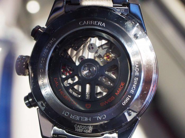 渋カッコいい大人時計「カレラ ホイヤー01 」アントラサイト(グレー)文字盤-TAG Heuer -P4260080-700x525