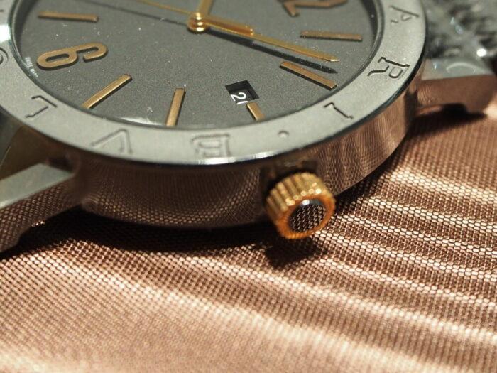高級感のあるラバーストラップの時計「ブルガリ ブルガリ」-BVLGARI -P7130044-700x525