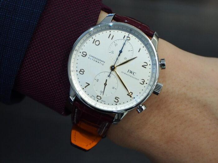 【ジャン・ルソー】ベルトを替えるだけで時計がよりオシャレに大変身!-IWC Jean Rousseau スタッフのつぶやき -P8170196-700x525