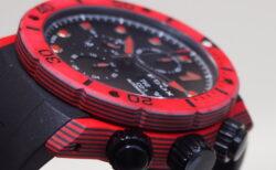 EDOX クロノオフショア1 クロノグラフ / 赤のカーボン&セラミックの新素材に注目!