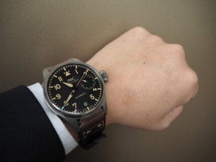 美しいレトロスタイルの腕時計 / IWC ビッグ・パイロット・ウォッチ・ヘリテージ