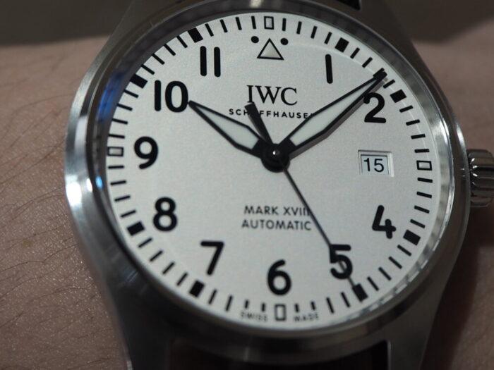 シンプルイズベストなミリタリーウォッチを試着してみました。IWCパイロットウォッチ マークⅩⅧ-IWC -P5150004-700x525