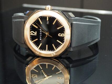 ラグジュアリーなお時計にラバーベルトでスポーティな要素もプラスしてみては?ブルガリ オクトオリジナーレ