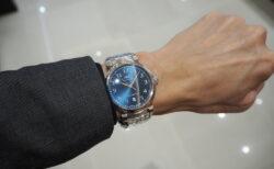 【IWC】エレガントなブルー文字盤の美しい時計「ダ・ヴィンチ・オートマティック」