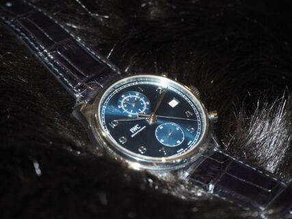 【IWC】ハイスペックなブルー文字盤の時計「ポルトギーゼ クロノグラフ クラシック」