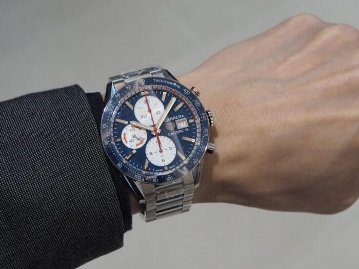 レーシング時計といえばタグ・ホイヤー「カレラ キャリバー16 クロノグラフ」-TAG Heuer -PA170139-e1602907802201-700x525