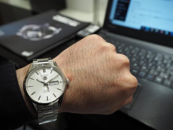 タグ・ホイヤーが贈る上品なシンプル時計…。「カレラ キャリバー5 オートマティック」-TAG Heuer 鹿児島店からのお知らせ フェア・イベント情報 -P5083298-600x450