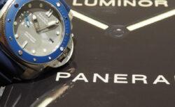 グレーの文字盤が海の王者を彷彿とさせる…。パネライ「PAM00959」