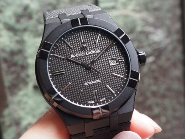 【モーリスラクロア】初めての高級時計にお薦め「アイコン オートマティック ブラック」-MAURICE LACROIX -P6060444-600x450