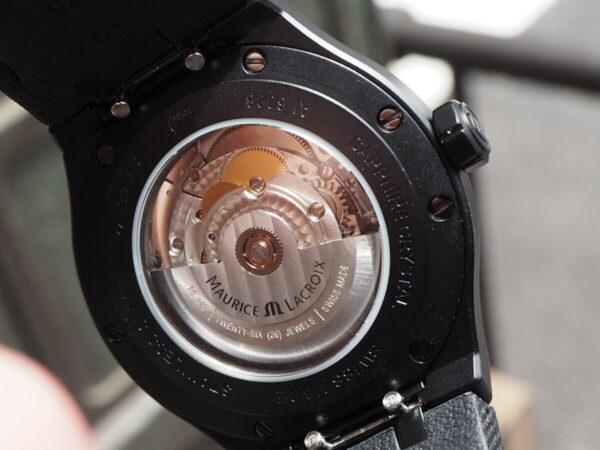 【モーリスラクロア】初めての高級時計にお薦め「アイコン オートマティック ブラック」-MAURICE LACROIX -P6060448-600x450